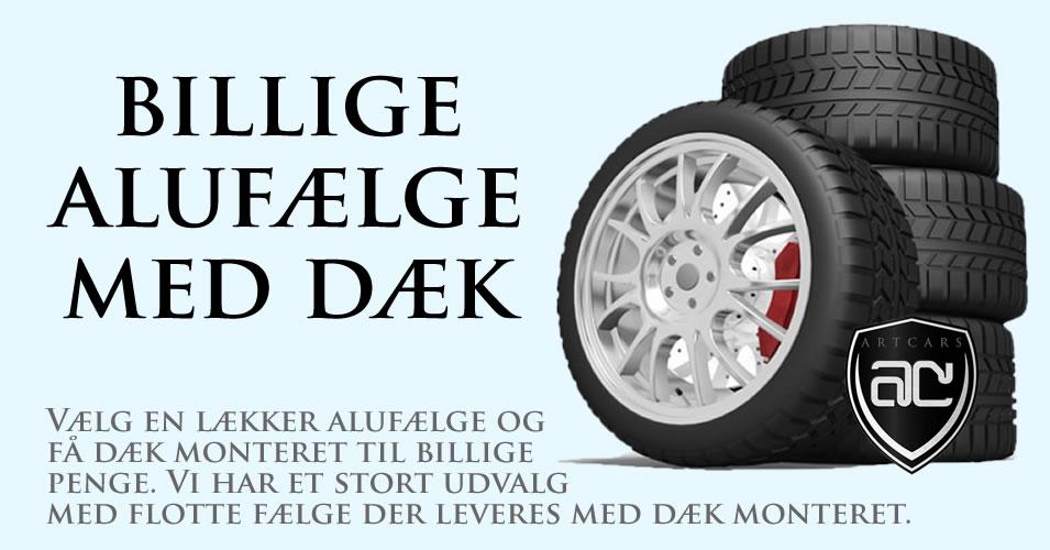 Billige alufælge med dæk