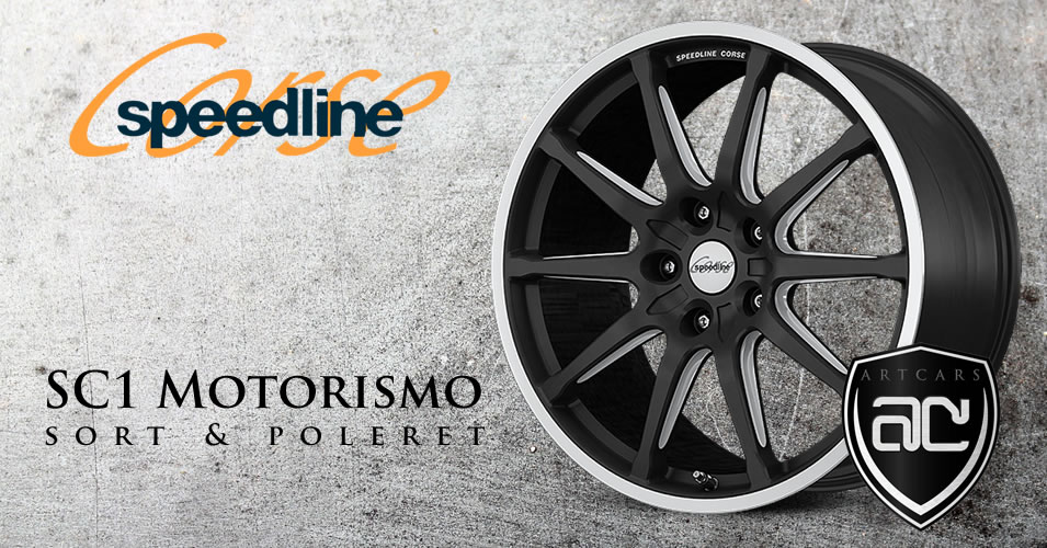 Speedline SC1 Motorismo Sort & Poleret